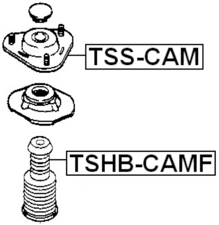 Front Shock Absorber Support FEBEST TSS-Alignment Cam Bolt