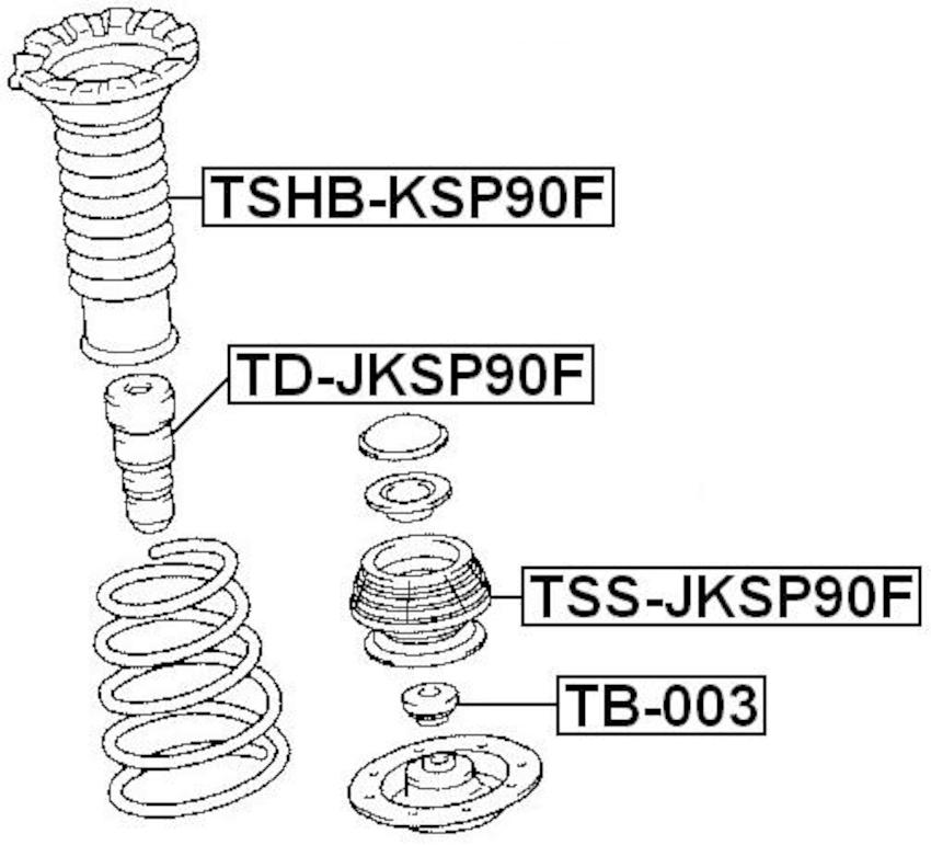 Front Strut Mount Shock Absorber Support FEBEST TSS