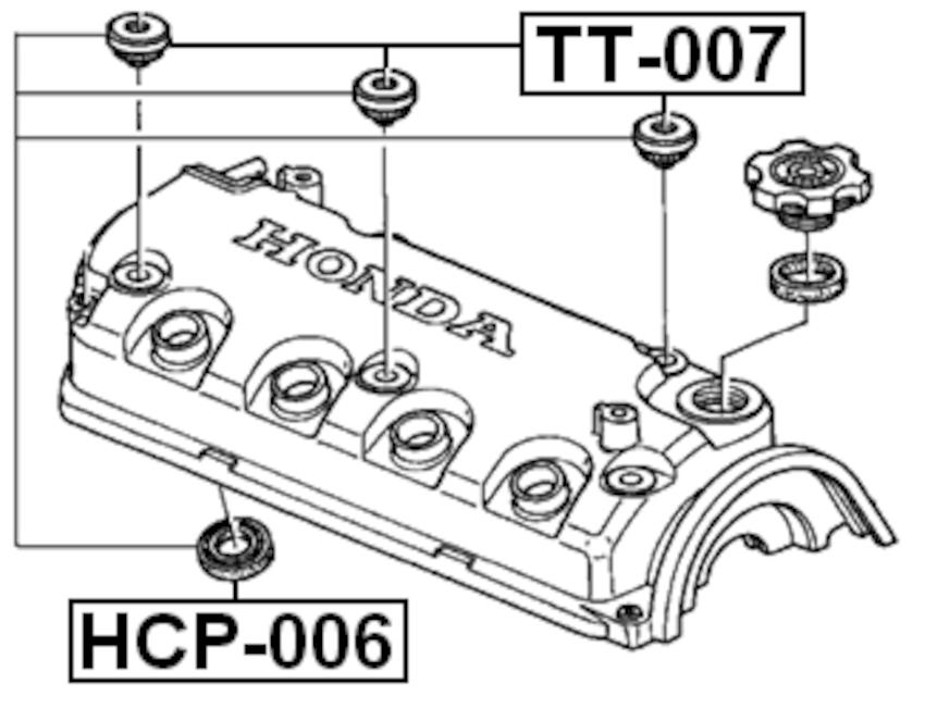 Engine Valve Cover Grommet ( EG2 B16A3 ) For 1995 Honda