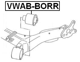 ARM BUSHING REAR ARM For Volkswagen GOLF IV (1J1) 1997