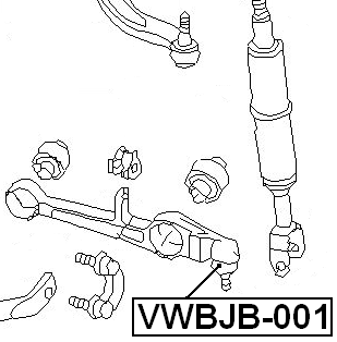 For VOLKSWAGEN PASSAT B5/B5+ 1997-2005 LOWER ARM BALL