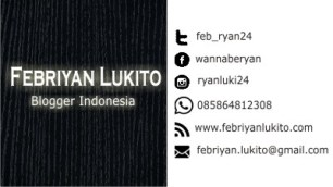 kartu nama untuk blogger
