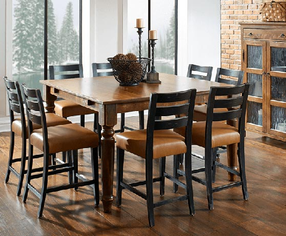 craftsman style chairs folding chair lowes arts and crafts dining table mission canadel