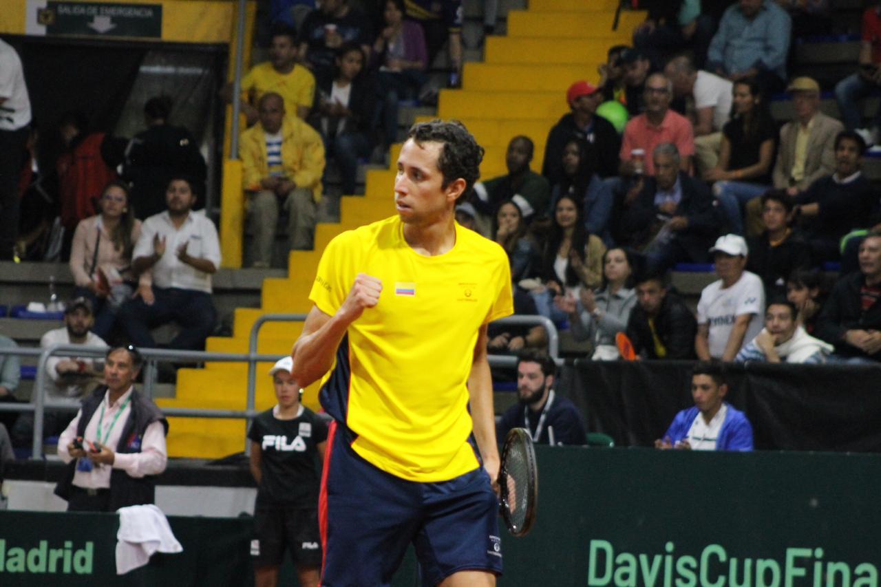 Clasificación a la Copa Davis. El santandereano Daniel Galán da una victoria histórica a Colombia