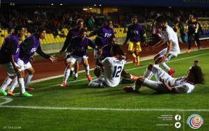 Celebracion Gol CRC vs Rusia Mundial Chile 2015