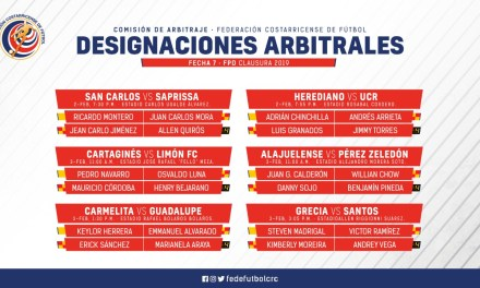 Definidos los réferis para la jornada 7 de primera división