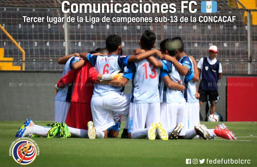 Comunicaciones se viste de bronce en Liga sub 13 de CONCACAF