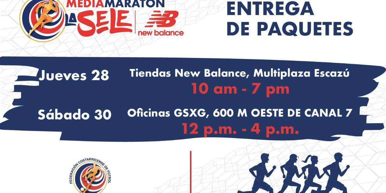 Atención corredores de la Media Maratón La SeleNB: La entrega de paquetes será este jueves y sábado