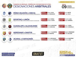 Designaciones jornada 9 primera division