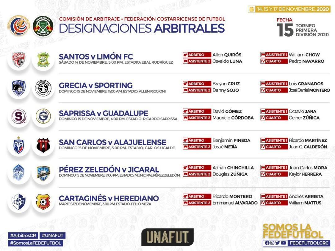 Arbitros Jornada 15