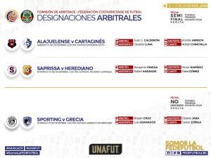 Designaciones arbitrales semifinal vuelta diciembre 2020