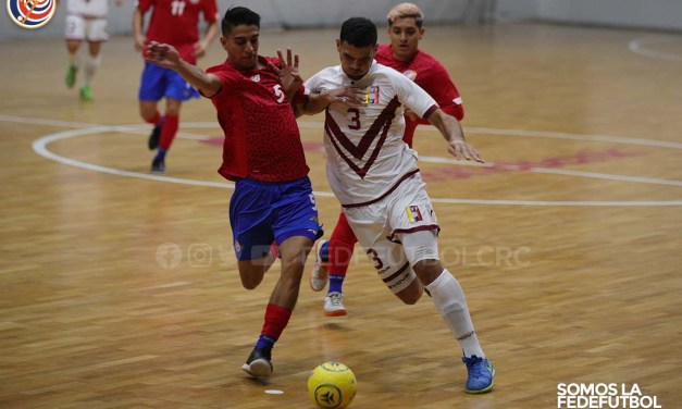 Selección de Fútbol Sala finalizó serie de amistosos ante Venezuela