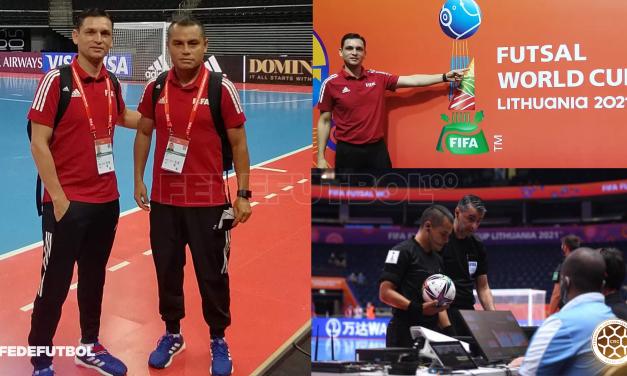 Dos árbitros ticos cumplieron un gran papel en el Mundial de Fútsal de Lituania