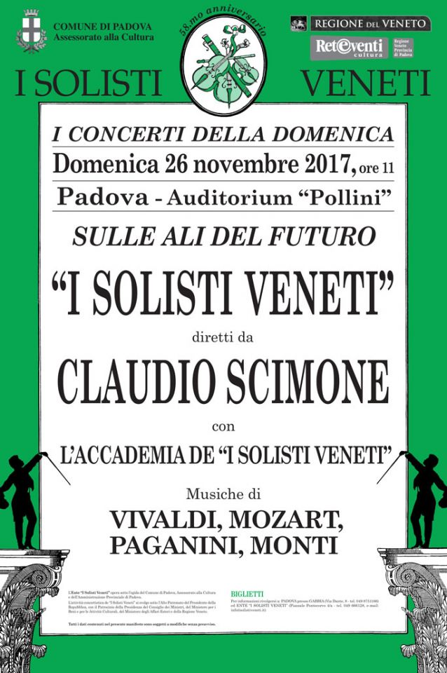 """Il 26 novembre """"I Solisti Veneti"""" a Padova"""
