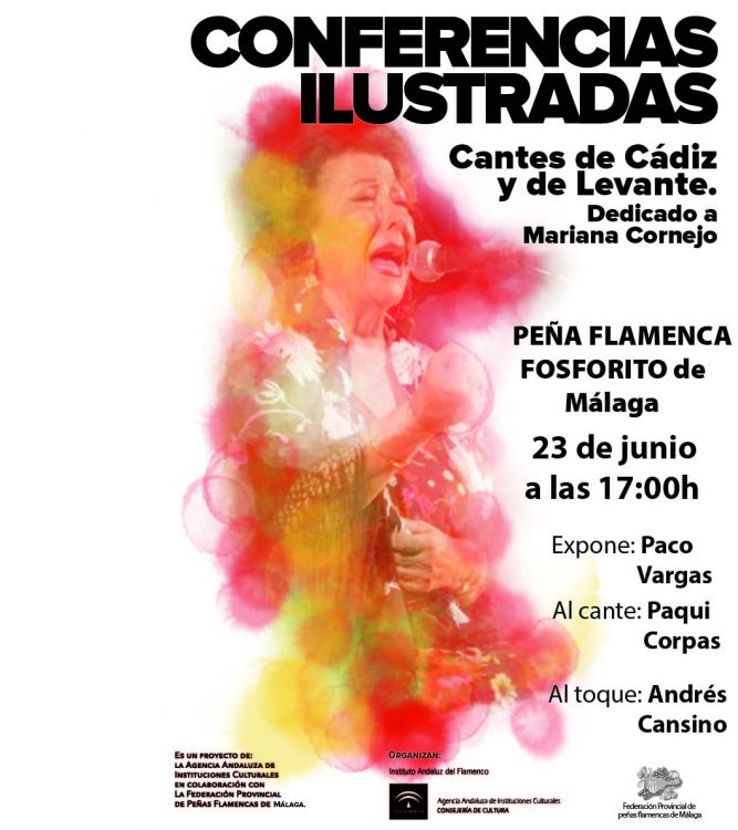 """CONFERENCIAS ILUSTRADAS """"CANTES DE LEVANTE Y DE CÁDIZ"""""""