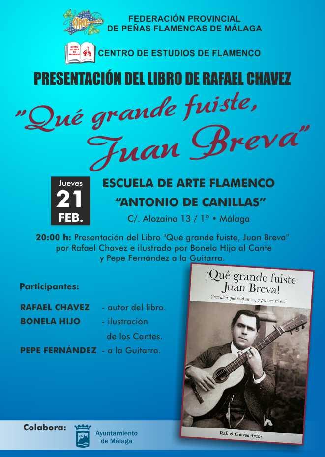 PRESENTACIÓN DEL LIBRO DE RAFAEL CHÁVEZ «Qué grande fuiste Juan Breva»