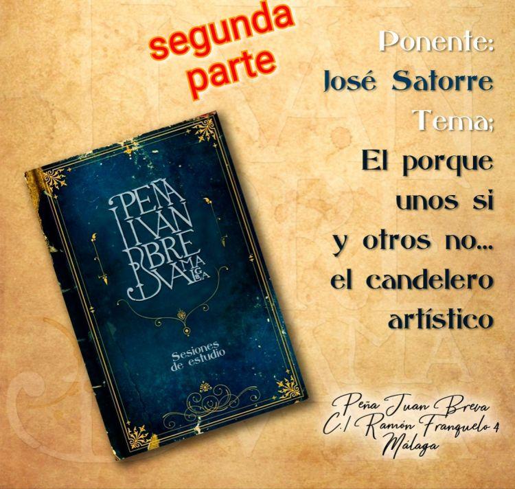 Nueva cita con José Satorre y 'El candelero artístico' en la Peña Juan Breva