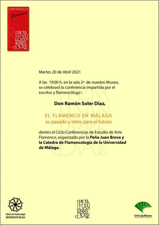 Ramón Soler ofrece en Juan Breva una conferencia