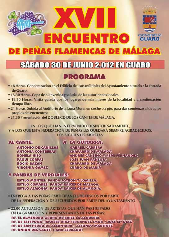 XVII ENCUENTRO PEÑAS FLAMENCAS DE MALAGA
