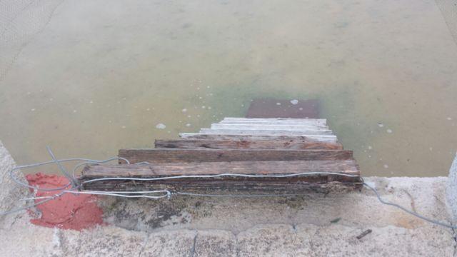 11. Detalle de la rampa anti-ahogamiento