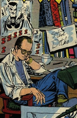 Steve Ditko self portrait, The Amazing Spider Man Annual #1 1964