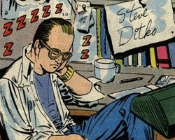 Steve Ditko self portrait, The Amazing Spider Man Annual #1 1964