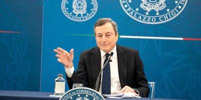 Draghi conferenza stampa Decreto Sostegni