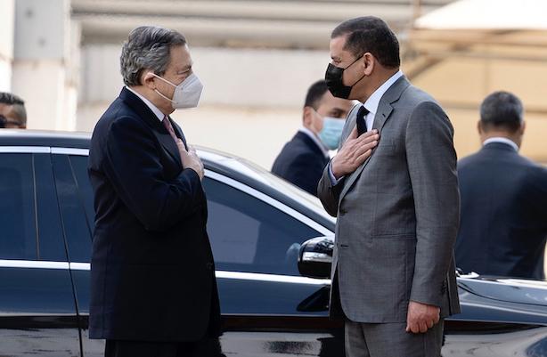 Draghi e Abdelhamid Dabaiba