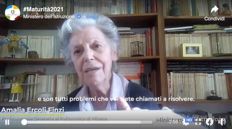 Amalia-Ercoli-Finzi-videomessaggio-studenti-maturità-2021