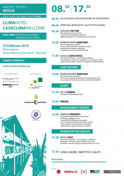 Clima Hotel e CasaClima Welcome  Taormina 25 febbraio 2016  FEDERALBERGHI Sicilia