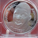 EARVIN – MAGIC JOHNSON- No.32 – LAKERS .999 SILVER 1 OZ. SILVER ROUND -HOT ITEM!