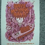 DAVE MATTHEWS BAND – HERSHEY PARK STADIUM -JUNE 23, 2006 SIGNED/NUMBERED POSTER