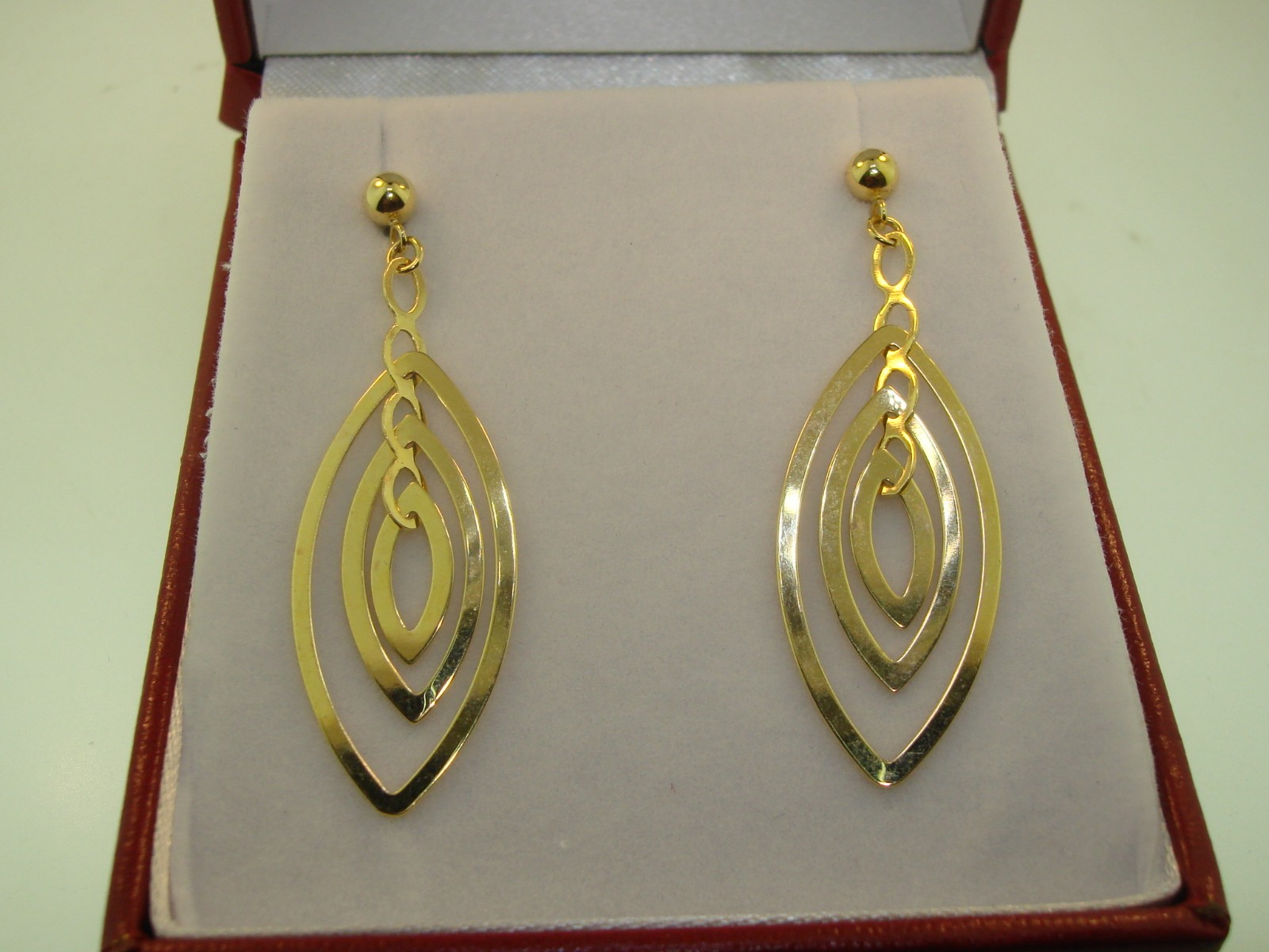 BEAUTIFUL NEW 14K SOLID GOLD DANGLE EARRINGS! - Federal Coin Exchange