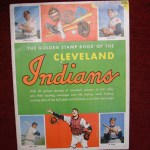 1955 CLEVELAND INDIANS STAMP BOOK WITH ALL STAMPS IN PLACE – NEAT!