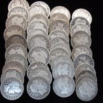 BARBER QUARTERS – FULL ROLL OF 40 MIXED – ABOVE AVERAGE COINS – 90% SILVER