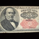 SERIES OF 1874 – 5th ISSUE 25 CENT FRACTIONAL NOTE – NICE