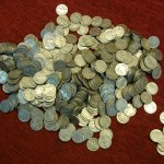 BUFFALO NICKELS – MEGA HERD OF 500 PCS. – WELL TRAVELED COINS – NO ACID/DARK