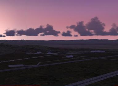 Sunset over Dreamland