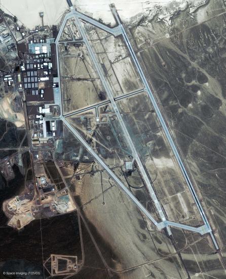 Satellite Photo of Grrom Lake AFB