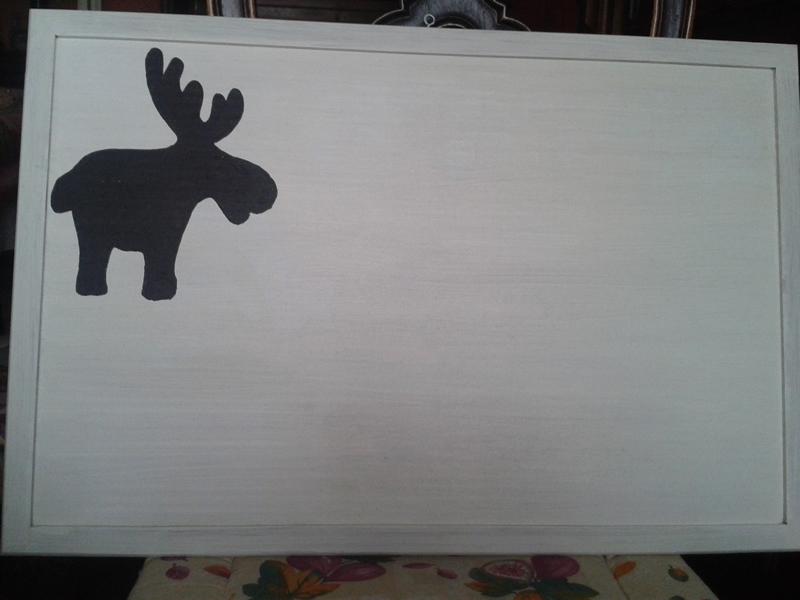 Bacheca porta-messaggi dipinta e decorata