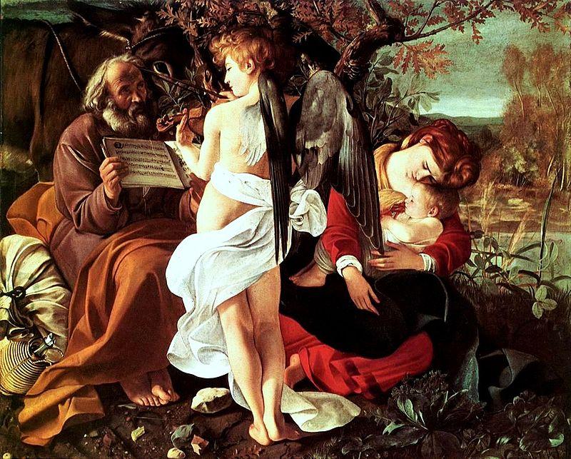Caravaggio, Il Riposo dalla Fuga in Egitto, 1595 - 1596, Roma Galleria Doria Pamphilj.