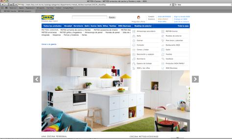 Organizar las categorías de una tienda online - Categorías en Ikea