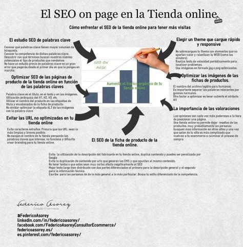 Infografía de Seo on Page en la Tienda on line