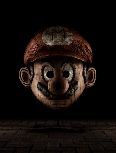 super-mario-wood-art
