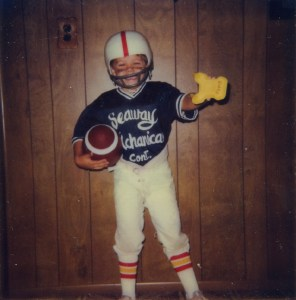 Rob as football player - Halloween 1984