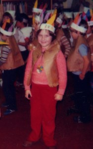 Clare as Indian  - Kindergarten