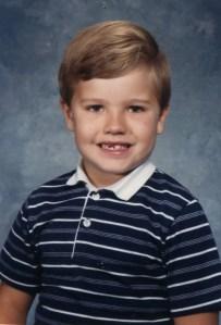 Rob 1st Grade school picture 1985
