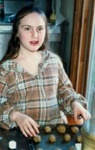 Clare tasting Cookie Dough 1985