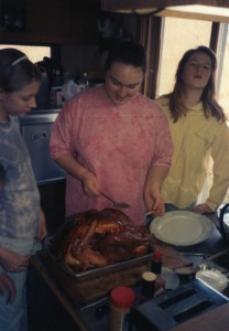 Clare and friends with Turkey - 1993
