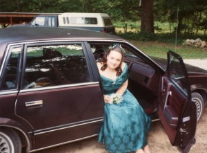 Clare at Prom 1993